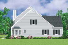 House Blueprint - Colonial Exterior - Other Elevation Plan #72-1117