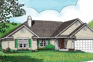Home Plan - Contemporary Exterior - Front Elevation Plan #11-236