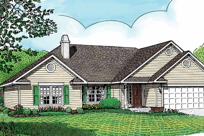 Contemporary Exterior - Front Elevation Plan #11-236