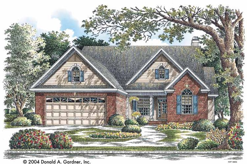 Ranch Exterior - Front Elevation Plan #929-734