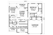 Traditional Style House Plan - 3 Beds 2.5 Baths 1958 Sq/Ft Plan #513-2081 Floor Plan - Main Floor Plan