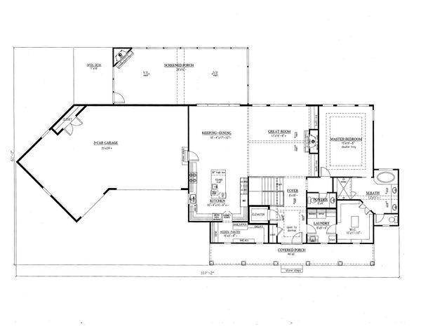 Farmhouse Floor Plan - Main Floor Plan Plan #437-93