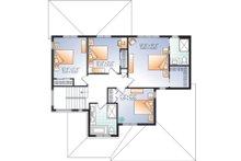 Craftsman Floor Plan - Upper Floor Plan Plan #23-2704