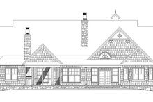 Craftsman Exterior - Rear Elevation Plan #929-905