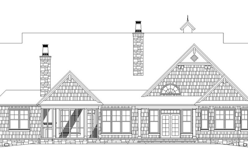 Craftsman Exterior - Rear Elevation Plan #929-905 - Houseplans.com
