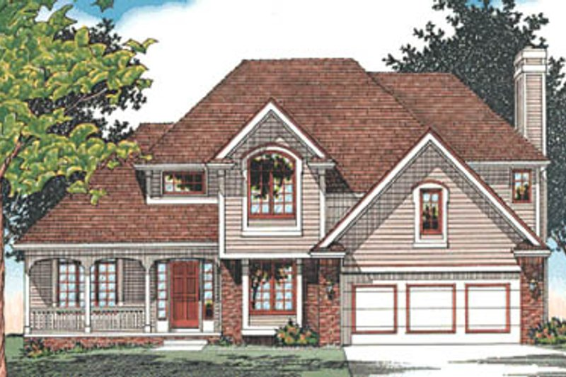 Traditional Exterior - Front Elevation Plan #20-2017 - Houseplans.com