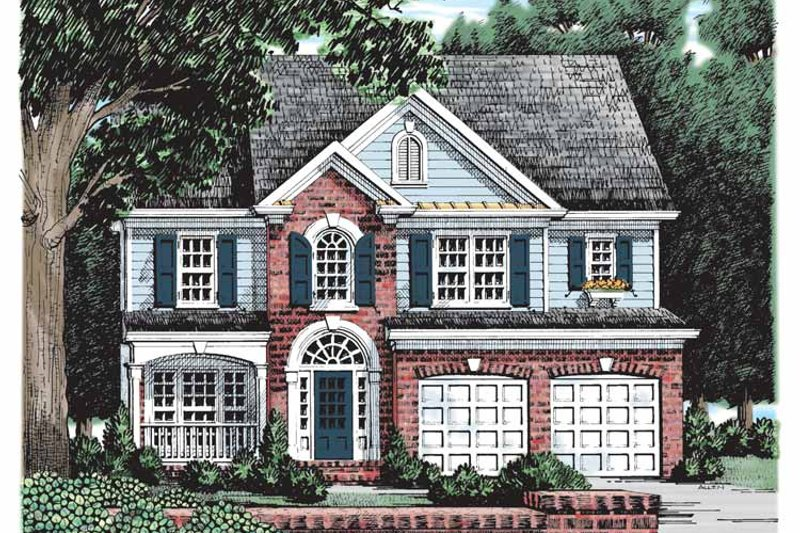 Colonial Exterior - Front Elevation Plan #927-161 - Houseplans.com