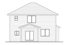 Architectural House Design - Craftsman Exterior - Rear Elevation Plan #53-659