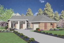 Classical Exterior - Front Elevation Plan #36-549