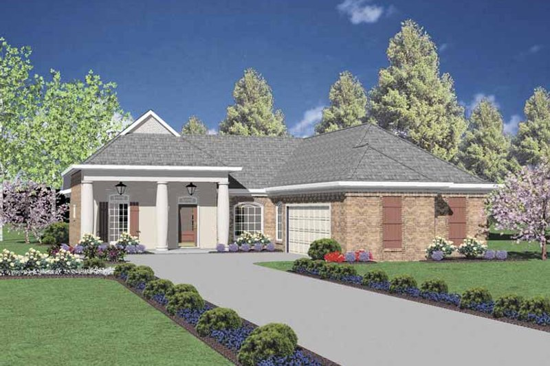 House Plan Design - Classical Exterior - Front Elevation Plan #36-549