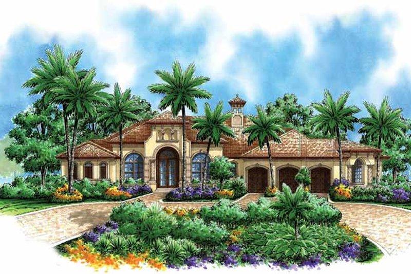 Dream House Plan - Mediterranean Exterior - Front Elevation Plan #1017-29