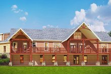 Craftsman Exterior - Rear Elevation Plan #119-426