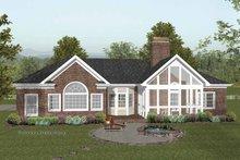 Dream House Plan - Craftsman Exterior - Rear Elevation Plan #56-682