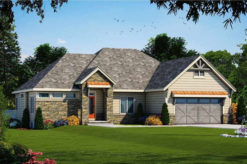 Ranch Exterior - Front Elevation Plan #20-2330