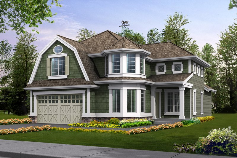 Colonial Style House Plan - 3 Beds 2.5 Baths 2805 Sq/Ft Plan #132-125 Exterior - Front Elevation