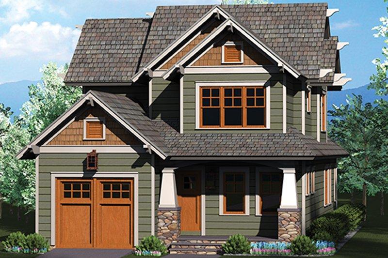 Architectural House Design - Craftsman Exterior - Front Elevation Plan #453-620
