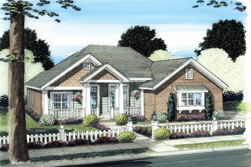 Architectural House Design - Traditional Exterior - Front Elevation Plan #513-2113