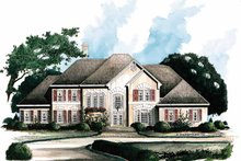 House Plan Design - Traditional Exterior - Front Elevation Plan #429-112