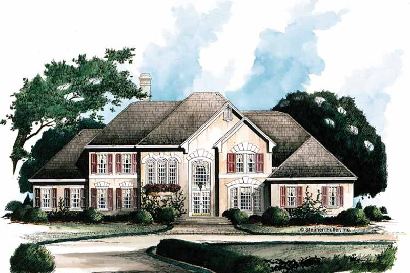 Traditional Exterior - Front Elevation Plan #429-112 - Houseplans.com