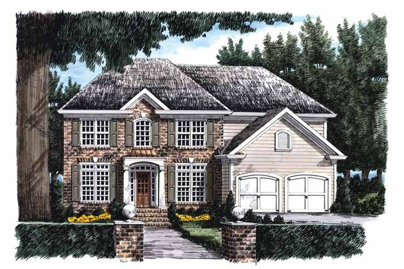 Classical Exterior - Front Elevation Plan #927-686