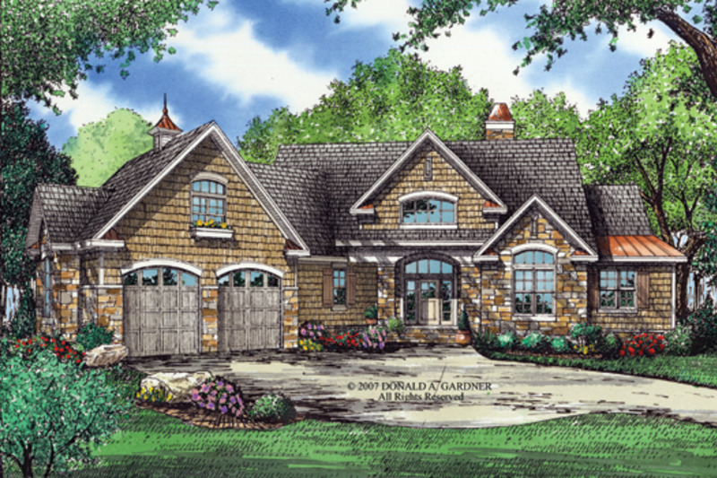 European Exterior - Front Elevation Plan #929-903 - Houseplans.com