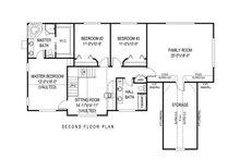 Country Floor Plan - Upper Floor Plan Plan #11-219