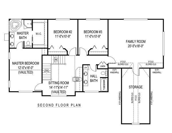 Architectural House Design - Country Floor Plan - Upper Floor Plan #11-219