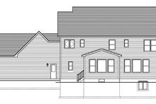 Home Plan - Colonial Exterior - Rear Elevation Plan #1010-164