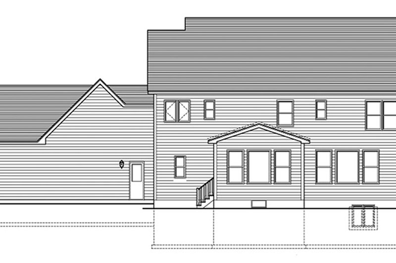 Colonial Exterior - Rear Elevation Plan #1010-164 - Houseplans.com
