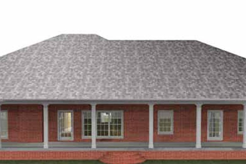 Country Exterior - Rear Elevation Plan #44-212 - Houseplans.com