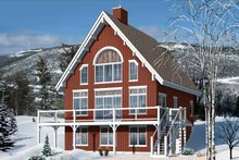 Home Plan - European Exterior - Front Elevation Plan #23-2488