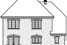European Exterior - Rear Elevation Plan #23-801