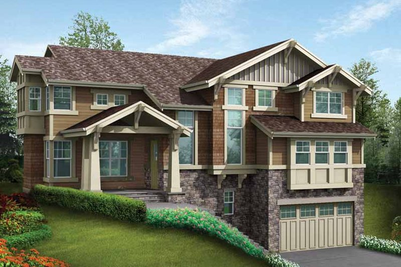 Craftsman Exterior - Front Elevation Plan #132-467 - Houseplans.com