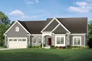 Ranch Style House Plan - 3 Beds 2.5 Baths 2006 Sq/Ft Plan #1010-145 Exterior - Front Elevation