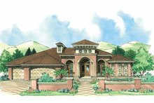 House Plan Design - Mediterranean Exterior - Front Elevation Plan #930-308