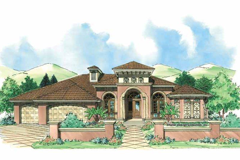 Architectural House Design - Mediterranean Exterior - Front Elevation Plan #930-308