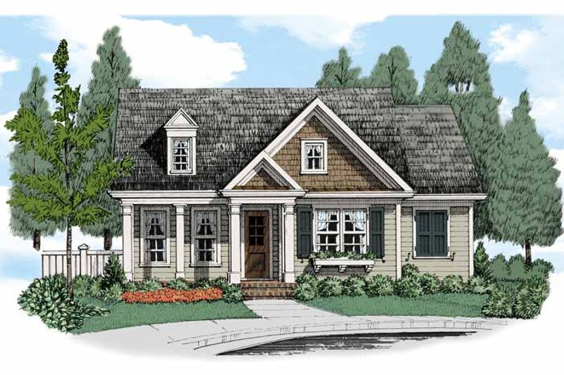 Bungalow Exterior - Front Elevation Plan #927-515