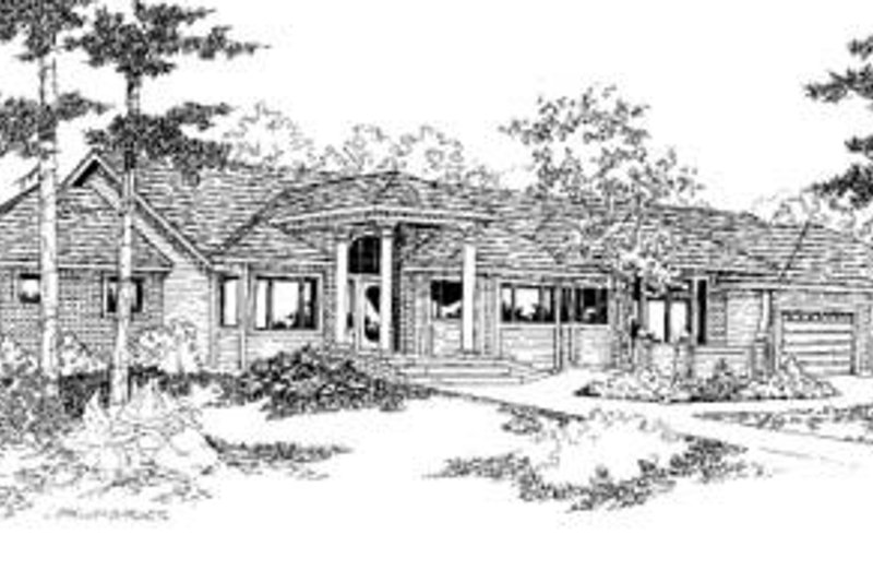 Bungalow Exterior - Front Elevation Plan #60-385 - Houseplans.com