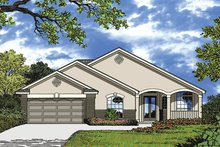 Architectural House Design - Mediterranean Exterior - Front Elevation Plan #417-853