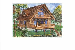 European Exterior - Front Elevation Plan #320-1011