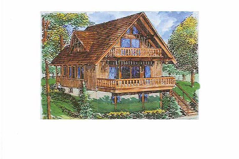 European Exterior - Front Elevation Plan #320-1011 - Houseplans.com