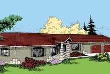Contemporary Exterior - Front Elevation Plan #60-805