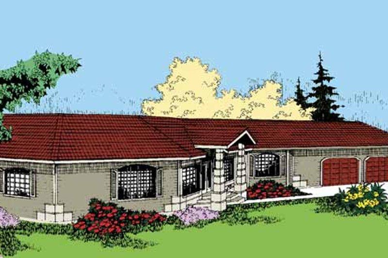 Contemporary Exterior - Front Elevation Plan #60-805 - Houseplans.com