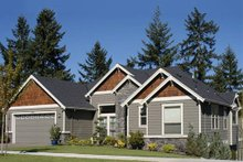 Dream House Plan - Front view - 2900 square foot Craftsman home