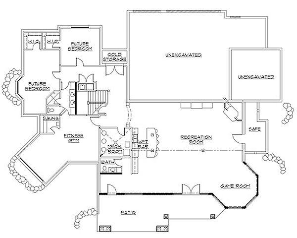 Traditional Floor Plan - Lower Floor Plan #5-335