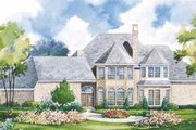 European Style House Plan - 4 Beds 3.5 Baths 3750 Sq/Ft Plan #20-1162 Exterior - Rear Elevation