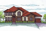 European Style House Plan - 4 Beds 3.5 Baths 2963 Sq/Ft Plan #459-3 Exterior - Other Elevation