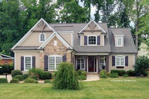 House Plan Design - European Exterior - Front Elevation Plan #929-34