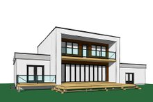 Modern Exterior - Rear Elevation Plan #23-2310