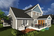 Dream House Plan - Traditional Exterior - Rear Elevation Plan #70-1246